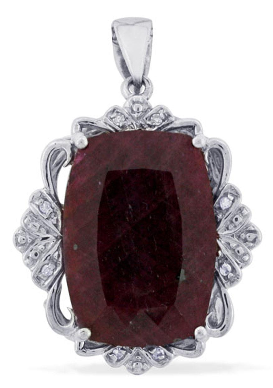 Details about  /Stunning Ruby Gf Gemstone Cushion Shape Jewelry 18k Rose Gold Pendant