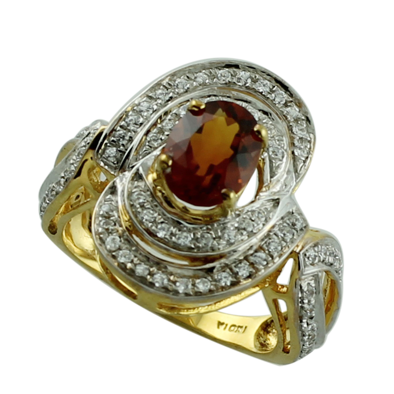 Gemstone 10k Rose Gold Ring for Women//Girls Details about  /Medira Citrine 1.63 Ct